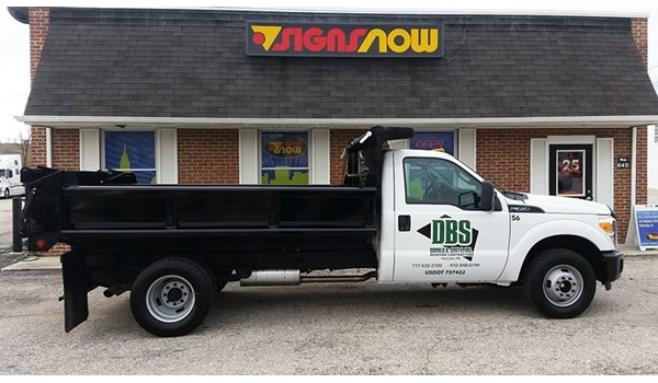 Signs Now Hanover has produced and installed a combination of graphics and partial wraps to help DBS Roofings fleet of trucks stand out.