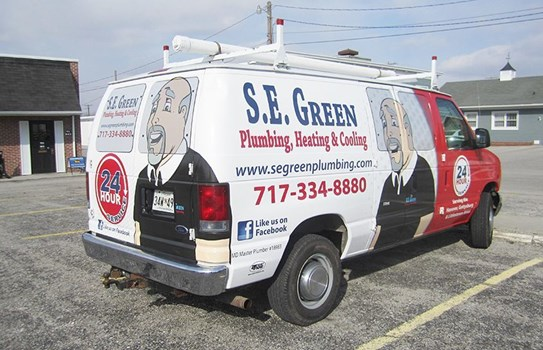 Vans are a great canvas for advertising your company and can really help build your brand.